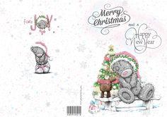 gepersonaliseerde kerst kaart,tatty teddy
