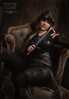 "we-are-rogue: "" Celaena Sardothien - Throne of Glass, by Black Fox """