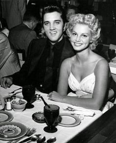 Elvis Presley and girlfriend Dottie Harmony