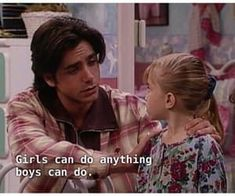 Full House Funny, Throwback Movies, Full House Quotes, Stephanie Tanner, Dj Tanner, Uncle Jesse, John Stamos, Affirmations For Women, Fuller House