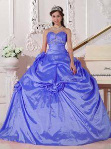 4ebb91f7940 Romantic Blue Ball Gown Sweetheart Floor-length Taffeta Quinceanera Dress  Lavender Quinceanera Dresses