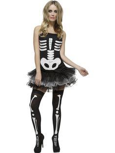 Adult Fever Skeleton Costume