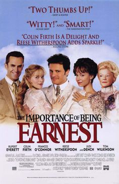 """The Importance of Being Ernest - A 2002 comedy drama starring Colin Firth & Rupert Everett. In London, two friends use the same pseudonym (""""Ernest"""") for their on-the-sly activities. Colin Firth, Love Movie, Movie Tv, Netflix Movies, Movie List, Movie Theater, Movies To Watch, Good Movies, Movies Box"""