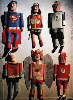 Paper superheroes by a young Alex Ross.