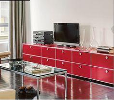 Sectional Modular Metal Storage Unit USM Haller Sideboard For Living Room USM  Haller Collection By USM Modular Furniture