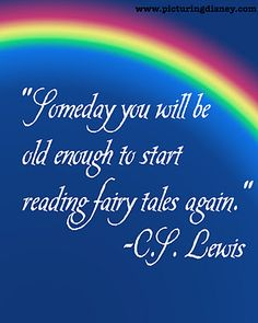 So glad I got old enough to read this set of fairy tales!  Thanks Mr. Lewis!