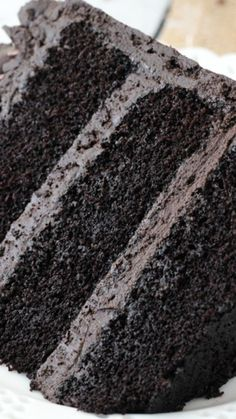 Best Chocolate Cake ~ seriously the best chocolate cake you'll ever make... incredibly moist and chocolatey!