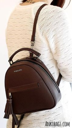 Leather Backpacks For Girls, Leather Shoulder Bag, Leather Bag, Women's Backpacks, Real Model, Maroon Color, Michael Kors Hamilton, Fashion Backpack, Vogue