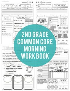 2nd Grade Common Core Morning Work. Love that there is a worksheet for every day, and it all is SO cohesive and seems to match what the kids would be learning about --- is it worth 26 dollars though?!