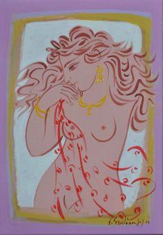 .:. Σταθόπουλος Γεώργιος – Georgios Stathopoulos [1944] Greek Drawing, Line Drawing, Greece Painting, Not My Circus, Popular Art, Classical Art, Pulp Art, Female Art, Art Drawings