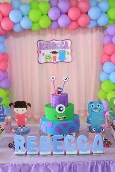 46 Ideas For Birthday Girl Second Kids Monster University Birthday, Monster 1st Birthdays, Monster Inc Party, Monster Birthday Parties, Birthday Party Themes, Monsters Inc Girl, Monsters Inc Baby Shower, Monster Baby Showers, Second Birthday Ideas