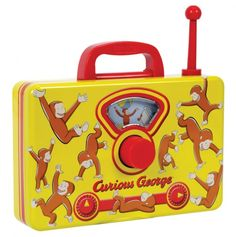 Curious George Tin Music Radio