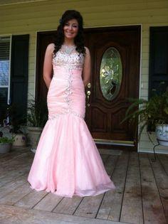 David's Bridal Size 2 Peach Mermaid Style Prom Dress   eBay