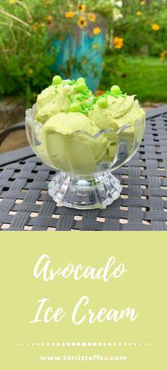 The savory goodness of avocados in a refreshing, cold treat! #avocado #icecream #unusualicecream