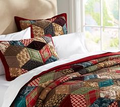 Tumbling Blocks Patchwork Quilt & Sham #potterybarn