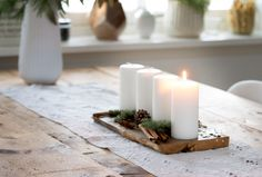 Mulled Wine, Cozy Place, Xmas Decorations, Pillar Candles, Hot Chocolate, Christmas Time, Candle Holders, Diy, Inspiration