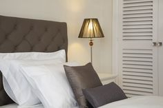 Bedroom, soft furnishings, cushions, table lamp, interior design by Pulse Interior Design