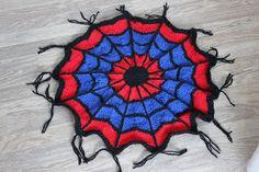 To små svaler: Oppskrift på tovet Spiderman-sitteunderlag. Homemade, Home Made, Hand Made