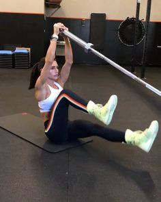 "2,324 Likes, 65 Comments - Alexia Clark (@alexia_clark) on Instagram: ""Landmine Core Workout 1. 10 each side 2. 12 each side 3. 30seconds each side 4. 30seconds 3-4…"""