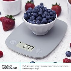 Our Kitchen and Food Scale has a straightforward design focused around the essential functions you need to prepare better meals. Durable plastic weighing surface and touch-sensitive buttons are easy to clean. Quickly and accurately weigh your ingredients to ensure healthy portion sizes and follow recipes more closely. Greater Products: High-contrast LCD screen. Scale shuts