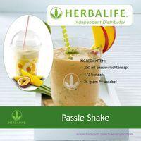 Herbalife recept voor Passie Shake