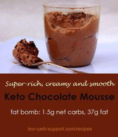 Keto chocolate mouss