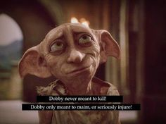 Dobby saving Harry in The Chamber of Secrets Harry Potter Books, Harry Potter Love, Harry Potter Memes, Dobby Quotes, Hogwarts, The Fault In Our Stars, Mischief Managed, Fantastic Beasts, Tags