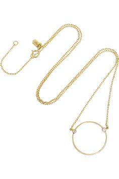 Maria Black Fine Jewelry|Monocle Kette aus 18 Karat Gold mit Diamanten|NET-A-PORTER.COM