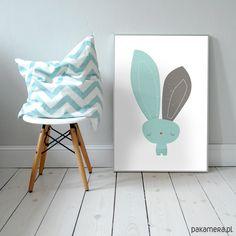 pokój dziecka - obrazy i plakaty-Mr Bunny | plakat A3