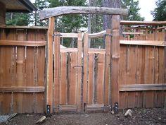 Stranan Entrance Gates   Thuja Wood Art