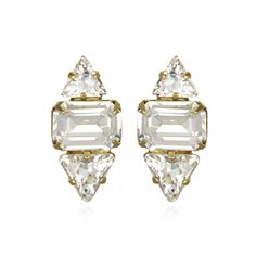 Clear Crystal Studs by Elizabeth Cole Jewelry