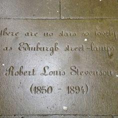 """There are no stars so lovely as Edinburgh street-lamps."" Robert Louis Stevenson"