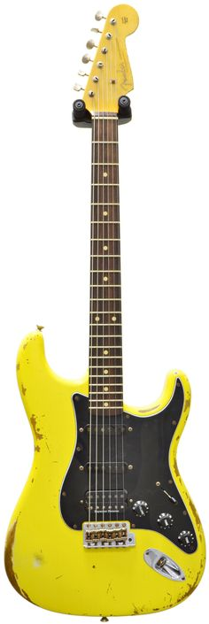 Fender Custom Shop 1960 Strat Heavy Relic Graffiti Yellow RW #R83474 Main Product Image