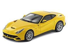 Ferrari F12berlinetta Diecast Model Car by Mattel X5500 This Ferrari F12berlinetta Diecast Model Car is Yellow and features working wheels. It is made by Mattel and is 1:43 scale (approx. 10cm / 3.9in long).