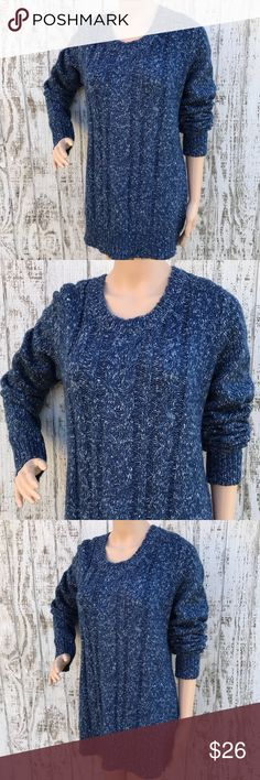 St. John's Bay Blue Lux Cable Sweater St. John's Bay Blue Lux Cable Sweater Like New Size Large Luxurious long soft sweater that is great paired with boots  Love❤️  M12 St. John's Bay Sweaters