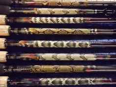 Custom Fishing Rods with Snake Skin Inlay