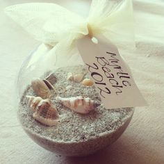 Gotta remember to pick up some seashells and sand from our honeymoon for our first ornament! :)