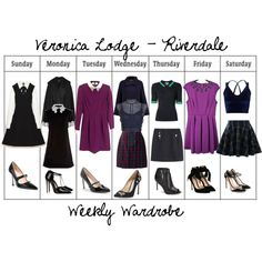 Gossip Girl Outfits, Teen Fashion Outfits, Preppy Outfits, Chic Outfits, Veronica Lodge Fashion, Veronica Lodge Outfits, Riverdale Set, Riverdale Veronica, Riverdale Halloween Costumes