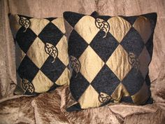 Black and Gold harlequin fabric | Request a custom order and have something made just for you.
