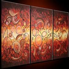 I really like the warmth in this set of paintings...dining room maybe?