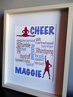 Hey, I found this really awesome Etsy listing at https://www.etsy.com/listing/184844889/personalized-cheer-gift-cheer-print