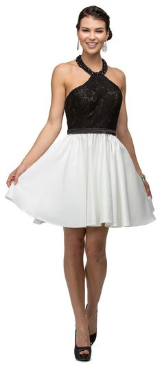 Sexy Gorgeous Cocktail Dress Halter Homecoming