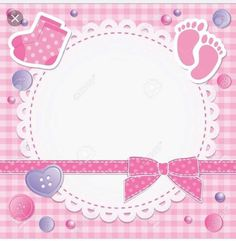 baby frame with pink bow and stickers Tarjetas Baby Shower Niña, Imprimibles Baby Shower, Baby Shower Invitaciones, Clipart Baby, Baby Shower Clipart, Baby Picture Frames, Baby Frame, Baby Images, Baby Pictures
