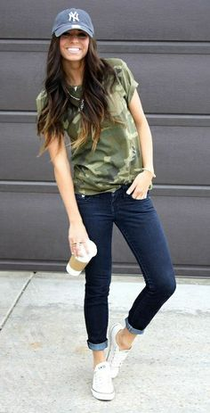 Baseball Cap. Hat. Football outfit. Game day outfit. Casual sports style. Girly Sporty Tomboy