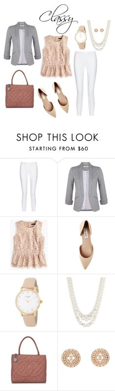 """""""What's Your Style Quiz- Classy Outfit"""" by whitney-carter03 on Polyvore featuring 10 Crosby Derek Lam, Miss Selfridge, J.Crew, Steve Madden, Kate Spade, Anne Klein and Chanel"""