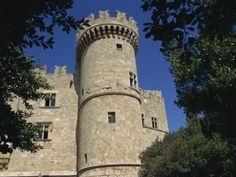 Castle of the Knights in Rhodes Old Town, Rhodes, Dodecanese, Greek Islands, Greece