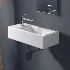 WS Bath Collections LVR 807 Wall Mounted / Vessel Ceramic Bathroom Sink x From the Ceramica Collection by WS Bath Collections - Keramik Modern Master Bathroom, Attic Bathroom, Bathroom Interior, Basement Bathroom, Bathroom Showers, Bathroom Furniture, Basement Remodeling, Bathroom Renovations, Decorating Bathrooms