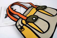 2D canvas bag/eco bag/unique bag/unique style/canvas