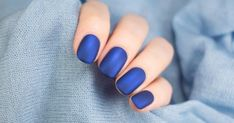 Matte nail polish, which is an indispensable nail polish of recent years, makes every woman's hand look tremendous. Matte nail polish wonders even when applied alone. Nail Bar And Spa, Luminous Nails, Nagel Bling, Facial Waxing, Nagellack Design, Matte Nail Polish, Nail Services, Breakfast For Kids, Blue Nails