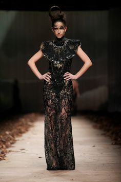 LADY X' by @Matija Vuica #fashion #glamour #redcarpet #beauty Fashion Glamour, Catwalk Fashion, How To Make Clothes, Running Away, High Collar, Corset, Red Carpet, Feminine, Elegant